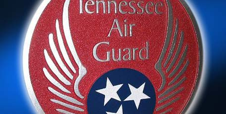 sandblasted emblem sign tennessee air guard